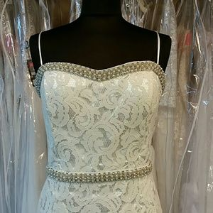 Dresses & Skirts - Stunning Ivory Lace Gown